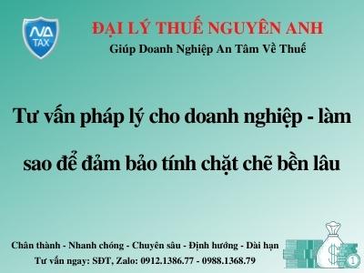 tu van phap ly cho doanh nghiep dam bao tinh chat che